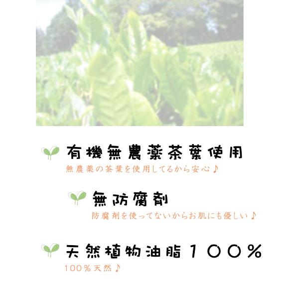 緑茶の保湿成分を備えたミルキーな泡が、肌のもつ本来の潤いを引き出してくれます