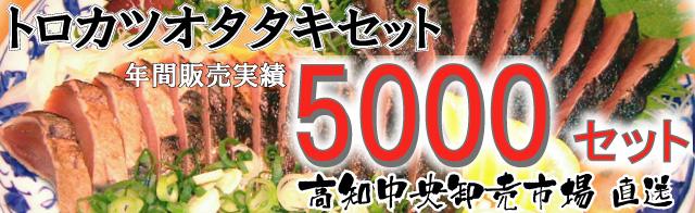 年間5000セット販売のトロカツオ・タタキセット